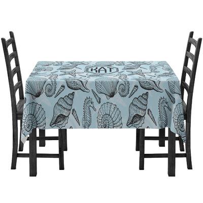 Sea-blue Seashells Tablecloth (Personalized)