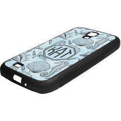 Sea-blue Seashells Rubber Samsung Galaxy 4 Phone Case (Personalized)