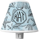 Sea-blue Seashells Shade Night Light (Personalized)