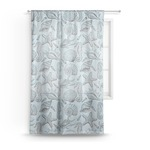 Sea-blue Seashells Sheer Curtains (Personalized)