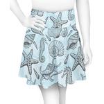 Sea-blue Seashells Skater Skirt (Personalized)