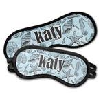 Sea-blue Seashells Sleeping Eye Masks (Personalized)
