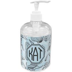 Sea-blue Seashells Acrylic Soap & Lotion Bottle (Personalized)