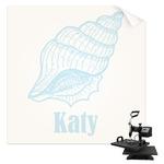 Sea-blue Seashells Sublimation Transfer (Personalized)