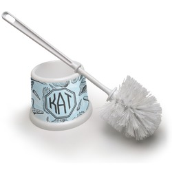 Sea-blue Seashells Toilet Brush (Personalized)