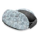 Sea-blue Seashells Travel Neck Pillow