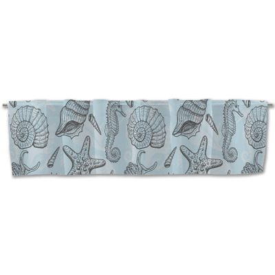 Sea-blue Seashells Valance (Personalized)