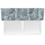 Sea-blue Seashells Valance (Personalized)
