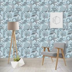 Sea-blue Seashells Wallpaper & Surface Covering