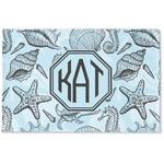 Sea-blue Seashells Woven Mat (Personalized)
