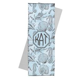 Sea-blue Seashells Yoga Mat Towel (Personalized)