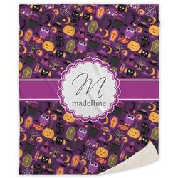 Halloween Sherpa Throw Blanket (Personalized)