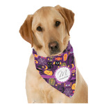 Halloween Dog Bandana Scarf w/ Name and Initial