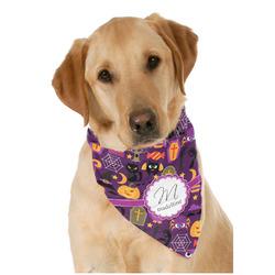 Halloween Dog Bandana Scarf w/ Name and Initial