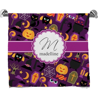 Halloween Full Print Bath Towel (Personalized)