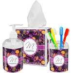 Halloween Acrylic Bathroom Accessories Set w/ Name and Initial