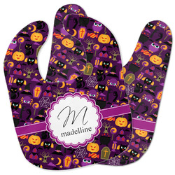 Halloween Baby Bib w/ Name and Initial