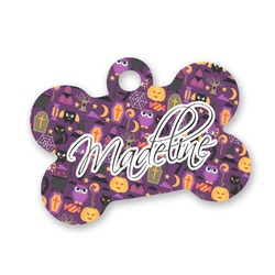 Halloween Bone Shaped Dog Tag (Personalized)