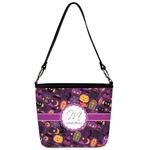 Halloween Bucket Bag w/ Genuine Leather Trim (Personalized)