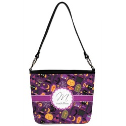 Halloween Bucket Bag w/ Genuine Leather Trim (Personalized)
