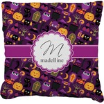 Halloween Faux-Linen Throw Pillow (Personalized)