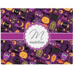 Halloween Woven Fabric Placemat - Twill w/ Name and Initial