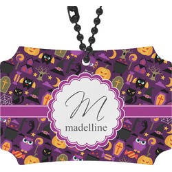 Halloween Rear View Mirror Ornament (Personalized)