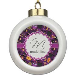 Halloween Ceramic Ball Ornament (Personalized)
