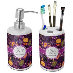 Halloween Bathroom Accessories Set (Ceramic) (Personalized)