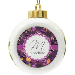 Halloween Ceramic Ball Ornament (Personalized)