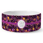 Halloween Ceramic Dog Bowl (Personalized)