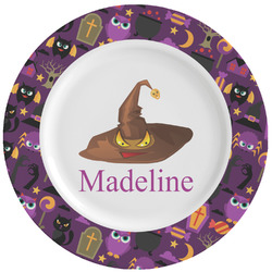 Halloween Ceramic Dinner Plates (Set of 4) (Personalized)