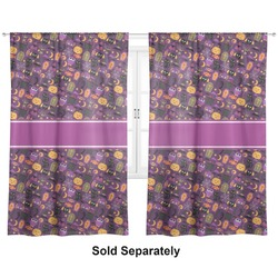 "Halloween Curtains - 56""x80"" Panels - Lined (2 Panels Per Set) (Personalized)"