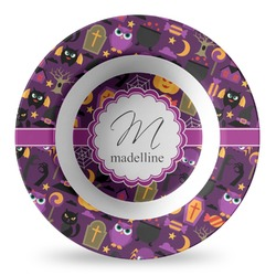 Halloween Plastic Bowl - Microwave Safe - Composite Polymer (Personalized)