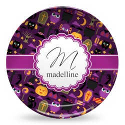 Halloween Microwave Safe Plastic Plate - Composite Polymer (Personalized)
