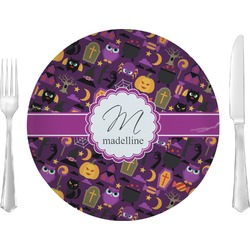 "Halloween Glass Lunch / Dinner Plates 10"" - Single or Set (Personalized)"