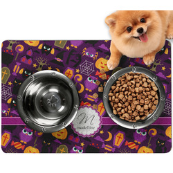 Halloween Dog Food Mat - Small w/ Name and Initial