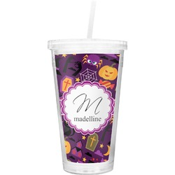 Halloween Double Wall Tumbler with Straw (Personalized)