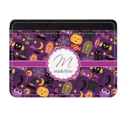 Halloween Genuine Leather Front Pocket Wallet (Personalized)
