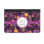 Halloween Genuine Leather ID & Card Wallet - Slim Style (Personalized)