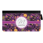 Halloween Genuine Leather Ladies Zippered Wallet (Personalized)