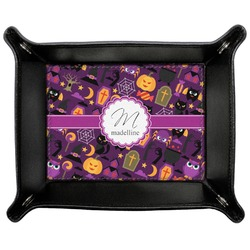 Halloween Genuine Leather Valet Tray (Personalized)