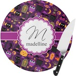 Halloween Round Glass Cutting Board (Personalized)