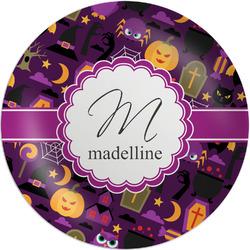 "Halloween Melamine Plate - 8"" (Personalized)"