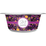 Halloween Stainless Steel Dog Bowl (Personalized)