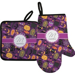 Halloween Oven Mitt & Pot Holder (Personalized)