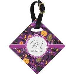 Halloween Diamond Luggage Tag (Personalized)
