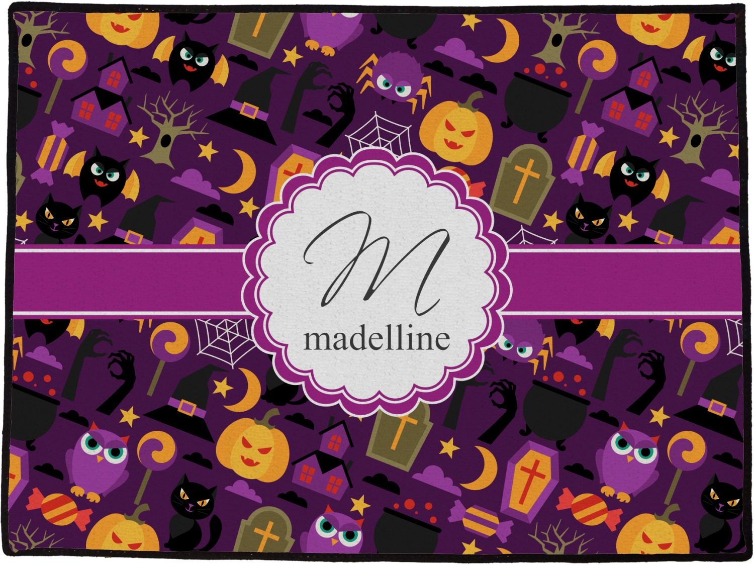 halloween door mat (personalized) - youcustomizeit