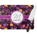 Halloween Rectangular Glass Cutting Board (Personalized)