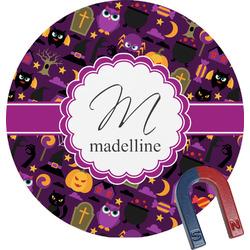 Halloween Round Fridge Magnet (Personalized)